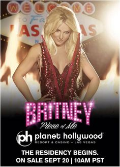 Britney Spears Vegas Show Book tickets now for Britney at Planet Hollywood Vegas! http://www.lasvegasdealsdeals.com/hotel-deals/caesars-entertainment/planet-hollywood-las-vegas-deals/planet-hollywood-las-vegas-britney-spears-package/