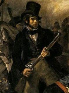 File:Eugène Delacroix - Liberty Leading the People (detail) - . Manet, Ferdinand, Liberty Leading The People, Eugène Delacroix, Van Diemen's Land, Romanticism Artists, Romanesque Art, Frame Wall Decor, Reproduction