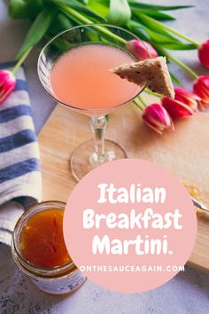 You'll love this delicious riff on the classic Breakfast Martini! Great for those Sunday brunches or served as an aperitif at dinner parties. This recipe uses vodka instead of gin. Gin Recipes, Gin Cocktail Recipes, Cocktail Party Food, Cocktail Club, Martini Recipes, Italian Recipes, Cocktails For Parties, Frozen Cocktails, Dinner Parties
