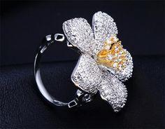 Devin Brilliant-Cut Flower Stem Engagement Ring