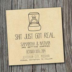 Save the Date Card  Printable  DIY Wedding by SplashOfSilver, $9.00