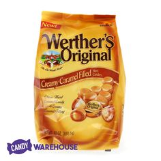 A classic treat that never gets old — Werther's Original Creamy Caramel Filled Hard Candy Filled Candy, Wholesale Candy, Gold Candy, Types Of Candy, Penny Candy, Caramel Candy, Candy Store, Suckers, Candies