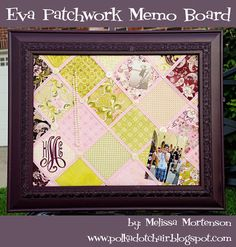 DIY Patchwork Memo Board - The Polkadot Chair