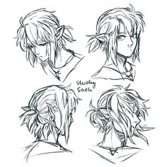 link's hair is so irresistible to draw; Hair Reference, Drawing Reference Poses, Manga, Link Art, Legend Of Zelda Breath, Link Zelda, Twilight Princess, Fanarts Anime, Breath Of The Wild