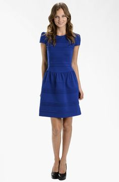 LABEL by five twelve Ponte Knit Fit & Flare Dress available at #Nordstrom, Super cute and only $108.