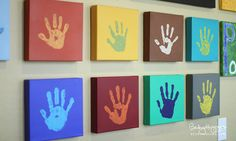 Yesterday I shared our tradition and process for creating a handprint canvas for each kid, each year. As a follow-up to all of that, today I'm sharing how I currently have the respective sets displayed in our home. We have 3 children, so there are 3 sets of canvases, 3 different ways we have …