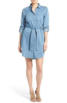 MINKPINK 'In a Daze' Chambray Shirtdress