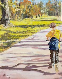 Die frische Luft, die Frühlingssonne und das Gefühl wieder ein Kind zu sein! #laxenburg #Sonne #Frühling #Kinder #Kunst #Park #Roller Park, Painting, Air Fresh, Painted Canvas, Sun, Nature, Kids, Kunst, Painting Art