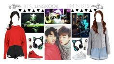 """💚Jungkook+Genji|BTS|Hanzo+Jimin💙"" by lily-x-kpop ❤ liked on Polyvore featuring Boohoo, TIBI, NIKE, Chicwish, adidas and Brookstone"