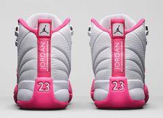 sneakers for cheap 558f1 9f774 GIRLS  AIR JORDAN 12 RETRO  VIVID PINK