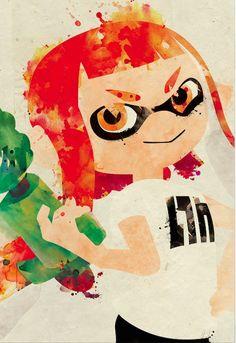 inkling girl, getting ready. Splatoon 2 Game, Nintendo Splatoon, Wii U, Splatoon Tumblr, Super Fun Games, Callie And Marie, Cool Art, Awesome Art, Spiderman Art