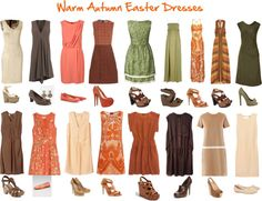 """""""Warm Autumn Easter Dresses"""" by jeaninebyers on Polyvore"""