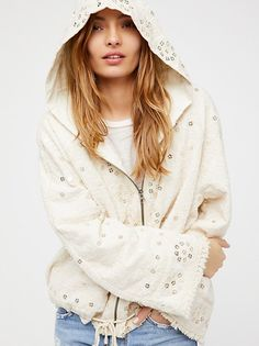 Embellished Cotton Hoodie from Free People!