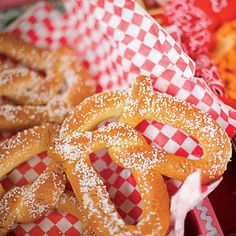 food ideas...pretzel making party...they freeze very well, we have lots of experience making pretzels the old fashioned way...