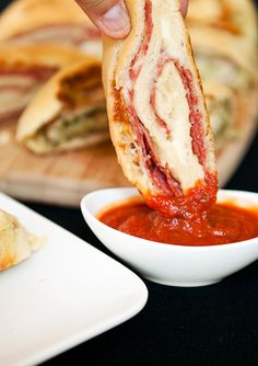 stromboli, super easy.  plus you can buy dough from trader joe's and make it even simpler