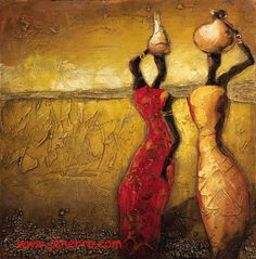 africa woman oil paintings on canvas 3