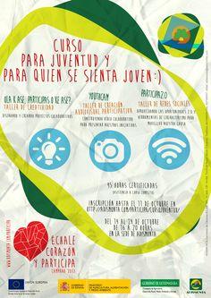 ÚLTIMO DÍA DE INSCRIPCIÓN!!! Creamos proyectos colaborativos :: Grabamos vídeo participativo :: Movemos en las redes! #Participación #Juventud #ÉchaleCorazón! http://adismonta.com/participa/cursojuventud/