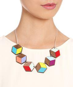 Geometric Link Necklace