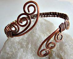 Waves of copper cuff