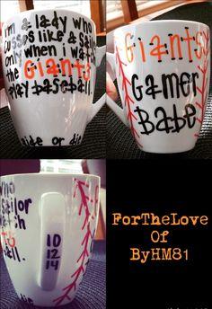 San Francisco Giants Porcelain Mug by ForTheLoveOfByHM81 on Etsy https://www.etsy.com/listing/216377208/san-francisco-giants-porcelain-mug