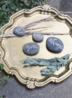 Gold Tray  Romantic Styled Shoot at the Irish Hunger Memorial, wedding dress, bride, bohemian, vintage, flower inspiration, wedding ideas, feathers, wedding inspiration, calligraphy ideas, rock
