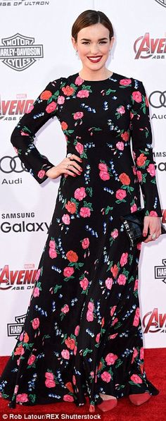 Celebrity guests: Agents Of S.H.I.E.L.D. actress Adrianne Palicki was pretty in purple whi...