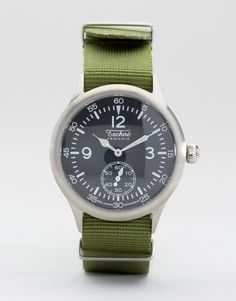 Image 1 - Techne Merlin - Montre à bracelet Nato - Vert olive