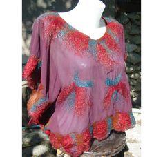 Nuno felt kimono blouse by RumiWay on Etsy, $35.00