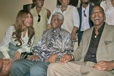 Bey&Jay with Mandela may he rest in peace.