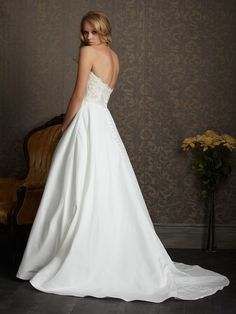 satin wedding dresses with lace