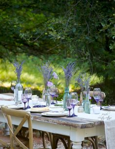 FRENCH COUNTRY COTTAGE: Summer Entertaining~ A Lavender Inspired Table