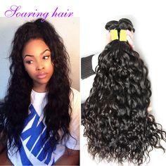 Ocean Wave Hair Malaysian Virgin Hair Natural Wave Wet and Wavy Mink Hair Weave Bundles 100% Curly Weave Human Hair Extensions