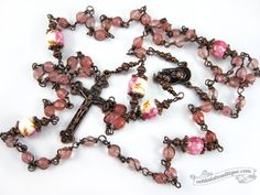 Quartz Unbreakable Rosary confirmation gift pink rosary