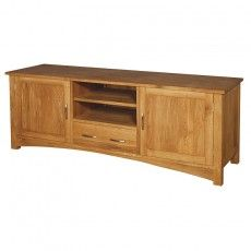 Buy the Brooklyn Oak Low TV Sideboard today from Designer Furniture and get Free Delivery. Made from Solid Oiled Oak. Featuring a fixed shelf, drawer and cupboard We are an official stockist for the Brooklyn Oak Furniture range We won't be beaten on price Solid Oak Sideboard, Low Sideboard, Solid Oak Furniture, French Furniture, Contemporary Living Room Furniture, Oak Bedroom, Oak Coffee Table, Tv Cabinets, Cabinet Furniture
