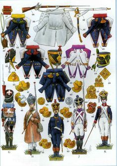 French infantry uniforms