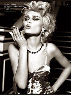 Bianca Balti by Ellen Von Unwerth for Vogue Italia September 2014