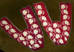 Victorian Glass Beaded and Needlepoint Slipper Vamps on Etsy, Sold