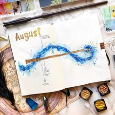 Raise your hand if you are obsessed with both Harry Potter and Bullet Journals? Read this for the best Harry Potter Bullet Journal Layout and Spread ideas! Harry Potter Journal, Harry Potter Calendar, Harry Potter Diary, Harry Potter Planner, Harry Potter Scrapbook, Journal Layout, Journal Pages, Journals, Journal Inspiration