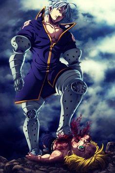 Nanatsu no taizai 175 - estarossa vs meliodas by ZAIN-ART on DeviantArt Manga Anime, Otaku Anime, Anime Art, Seven Deadly Sins Anime, 7 Deadly Sins, Demon King Anime, Meliodas Vs, Seven Deady Sins, 7 Sins