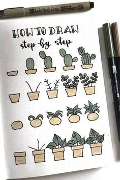20 Best Succulent & Cactus Doodle Ideas for Bujo Addicts - Bullet Journ . - 20 best succulent & cactus doodle ideas for bujo addicts – bullet journal 20 best suc - Bullet Journal Headers, Bullet Journal Banner, Bullet Journal Notebook, Bullet Journal Ideas Pages, Art Journal Pages, Journal Prompts, Bullet Journal Inspiration Creative, Doodling Journal, Drawing Journal