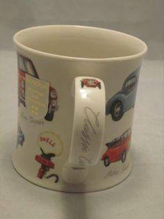DUNOON Classic Cars Coffee Tea Mug Cup Scotland MG Healy Cooper Stoneware