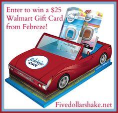 $25 Walmart Gift Card giveaway #FebrezeCar @SheSpeaksUp
