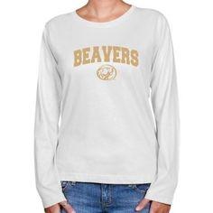 NCAA Bemidji State Beavers Ladies Ash Logo Arch Classic Fit T-shirt  $19.95