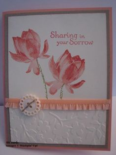 SU Lotus Blossom, Thoughts and Prayers, Crisp Crisp Cantaloupe Ruffled ribbon, Spring Flowers E F