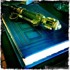 I made this hand-bound River Song diary with embossed leather cover for my daughter's cosplay outfit for SDCC2012.