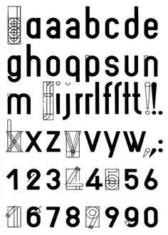 Joost Schmidt Alphabet