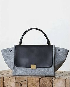 Céline Trapeze bag, Céline 2013 fall  Trapeze bag in felt pearl grey