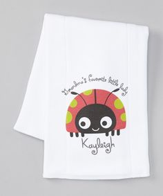 Take a look at this White 'Grandma's Favorite Little Lady' Personalized Burp Cloth by Liz & Maggie on #zulily today!