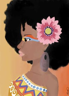 Live off the Wall---Natural Hair (Art)