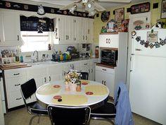 small kitchen Retro style